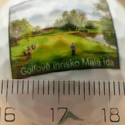 Potlač golfových loptičiek