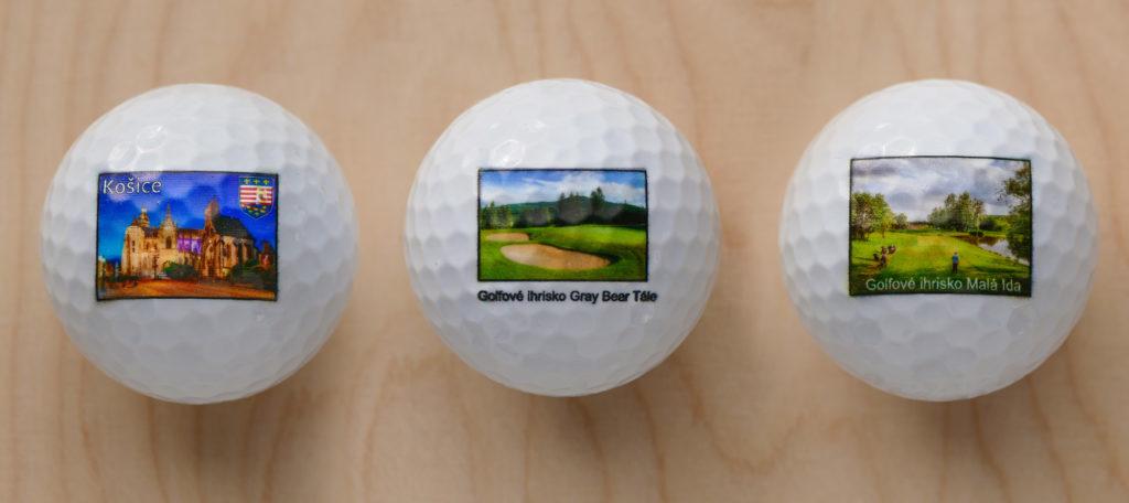 Fotografie potlačené na golfových loptičkách